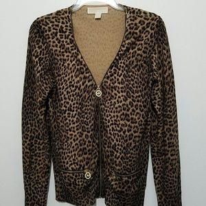 Michael Kors Womens Cardigan Sweater Zip Front S